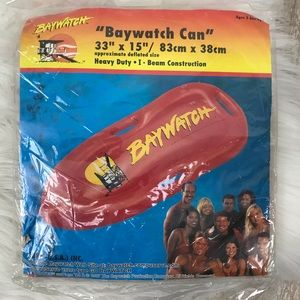 Vintage Baywatch Can Inflatable Pool Float Toy